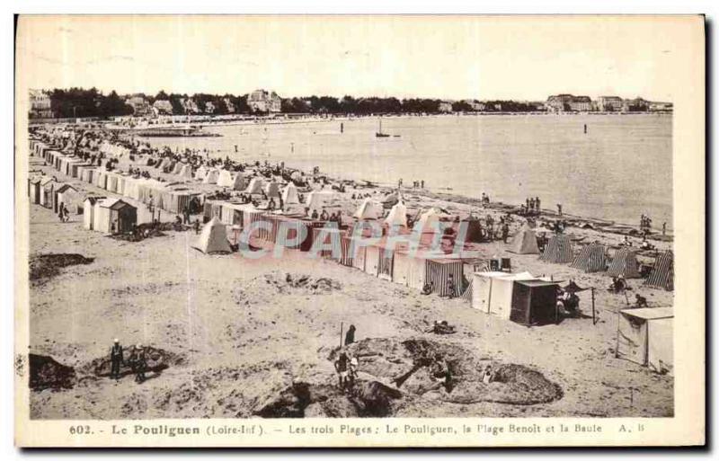 Old Postcard Pouliguen The Pouliguen The Beaches Trols Benoit beach and La Baule