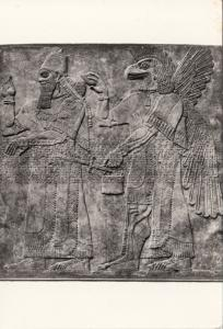ASHURNAZIRPAL II, King of Assyria, Bas-relief in stone, at the British Museum