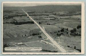 Carlisle Pennsylvania~Cumberland County~Turnpike Birdseye View~Farmland~1941