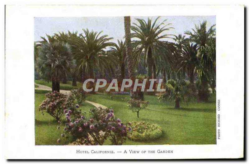 Old Postcard Hotel California A View Of The Garden