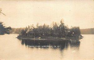 Lake Parlin ME Stanwood Island Eastern Illustrating Real Photo Postcard