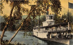 G17/ St Joe River Idaho Postcard c1910 Steamer Georgie Oakes Crowd