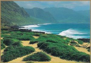 Hawaii Oahu View From Ka'Ena Poit To Yokohama Bay