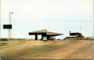 1950s Route 66 between Barstow and Needles California Inspection Station