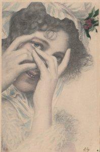 M.M.VIENNE : Closeup Female Head Portrait #2 , 1902