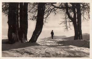 France en route vers le Grand Ballon real photo postcard winter ski