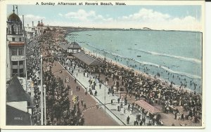 A Sunday Afternoon At Revere Beach, Mass. WB