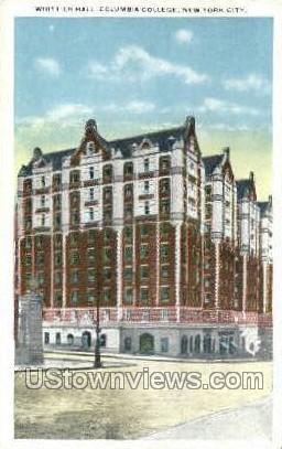 Whittier Hall, Columbia College New York City NY Unused