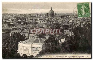 Paris Old Postcard View from the grand palace on & # 39eglise Augustine