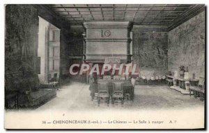 Old Postcard Chateau Chenonceau The Dining Room