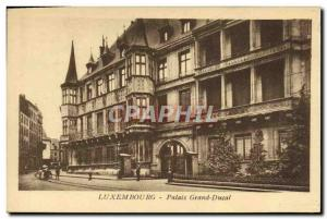 Old Postcard Luxembourg Grand Ducal Palace