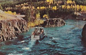 Excursion boat SCHWATKA , Whitehorse Rapids , Yukon , Canada , 40-60s