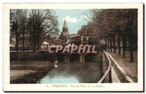 Old Postcard Haguenau Old Bridge Moder