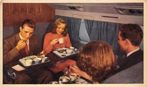 Mealtime aloft features mainliner cuisine and convenience Airplane Unused