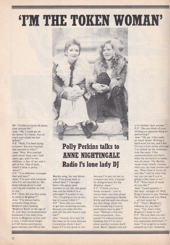 Pete Murray Anne Nightingale Noel Edmonds Radio 1 DJ 1970s Magazine