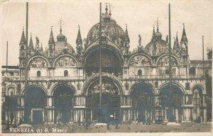 Vintage Postcard 1922 San Marco Venezia Doge's Palace and the Bridge of Sighs