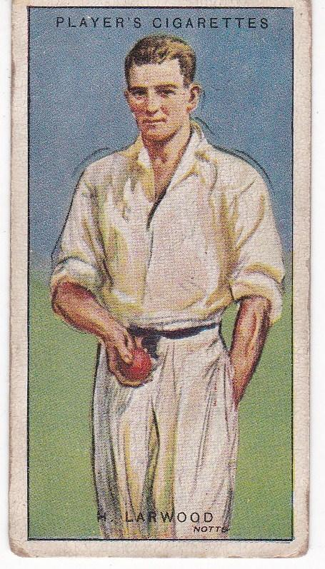 Cigarette Cards Player's Cricketers 1930 No 30 - H Larwood