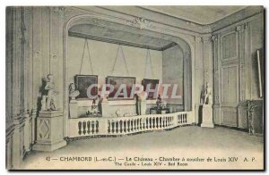 Old Postcard Chambord L and C. The Chateu Bedroom of Louis XIV
