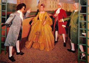 B110487 France Musee de Cires Madame Dupin Recevant Rousseau Chateau