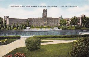 Colorado Denver West High School With Sunken Garden In Foreground