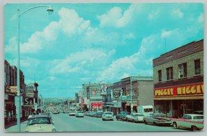 Minot North Dakota~Main Street~Piggly Wiggly Store~Reddy Kilowatt~1950s Cars