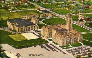 Ohio Toledo Aerial View Toledo University