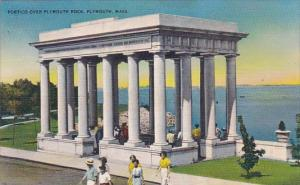 Massachusetts Plymouth Portico Over Plymouth Rock