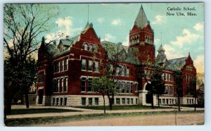 NEW ULM, MN Minnesota  CATHOLIC CHURCH  1913  Brown County Postcard