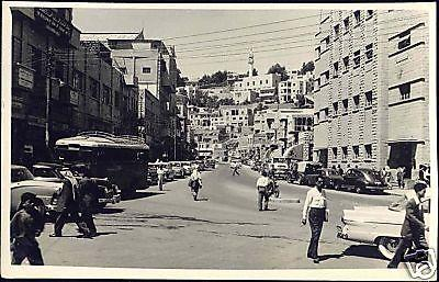 jordan, AMMAN, Street Scene, Cars (1950) RPPC