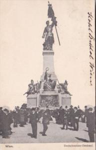 Austria Wien Vienna Deutschmeister Denkmal 1905