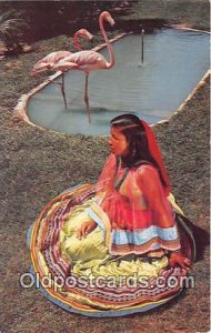 Florida's First, Seminole Indian Girl Photo by Towle, Silver Springs, FL, USA...