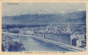 France Grenoble Vue Panoramique et les Alpes