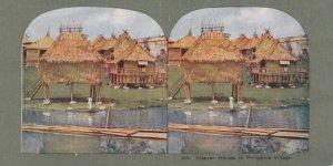 SV: Philippines Islands , 1890-10s ; Visayan Houses in Philippine Village