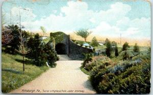 1910s Pittsburgh, Pennsylvania Postcard Tunnel in Highland Park Under Driveway