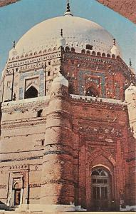 Pakistan Old Vintage Antique Post Card High Tomb of Rukn-l-Alam Unused