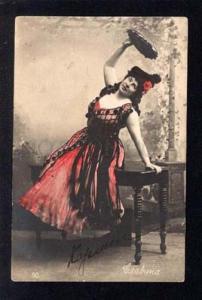 031768 Dancing SLAVINA Russian Opera Star. Old PHOTO
