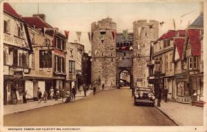 Westgate Towers and Falstaff Inn Canterbury Postcard