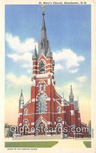 Churches Vintage Postcard Manchester, NH, USA Vintage Postcard St Mary's Church