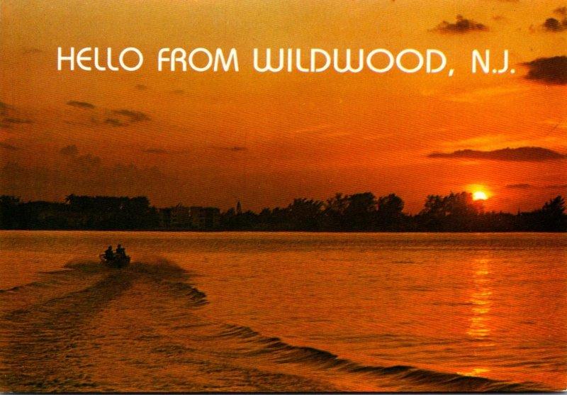 New Jersey Hello From Wildwood Beautiful Sunset
