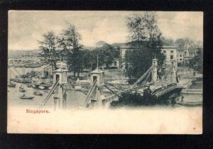 034192 SINGAPORE Cavenagh bridge view Vintage PC