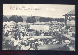 CORTLAND NEW YORK CORTLAND COUNTY FAIR 1908 ANTIQUE VINTAGE POSTCARD NY