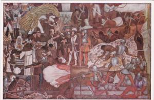 Mexico , 30-40s ; Artist DIEGO RIVERA : Hernan Cortes