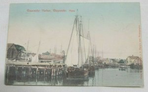 1905 Gloucester Harbor Massachusetts Postcard Collectible made in Russia