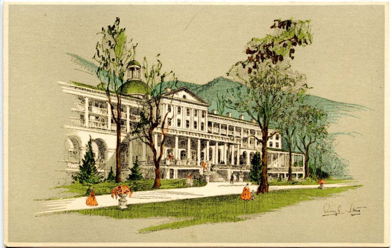 WV - White Sulphur Springs. The Old White (demolished in 1922).