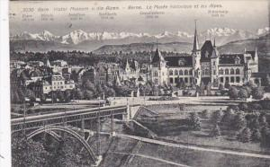 Switzerland Bern Historisches Museum und die Alpen 1910