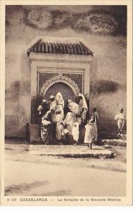 Morocco Casablanca La Fontaine de la Nouvelle Medina