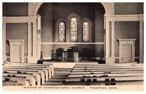 Connecticut  Thompson Interior  Congregational Church