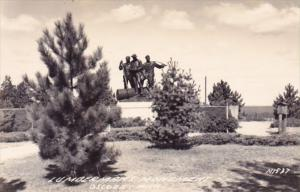 Lumbermans Monument Oscoda Michigan Michigan Real Photo