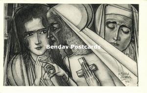 Dutch Symbolist JAN TOOROP - The Prophetess (1940s)