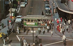 Postcard Cable Car Turntable San Francisco California
